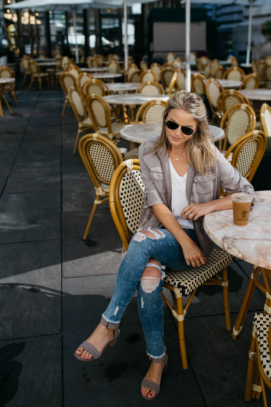 Petite Express One Eleven Burnout London Tee