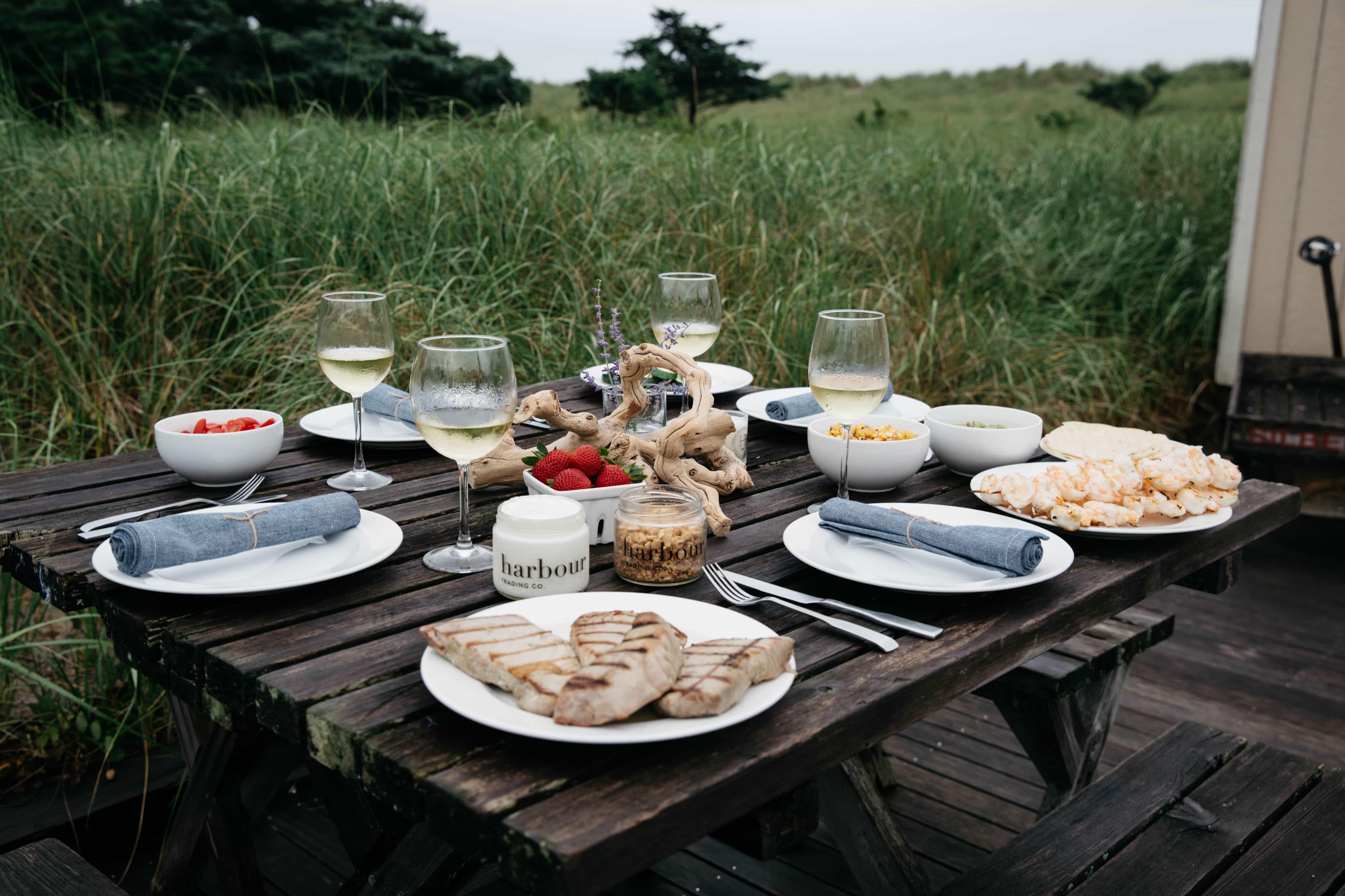 easy beach dinner
