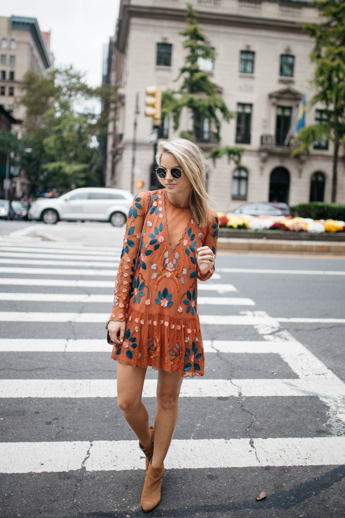 free people hearts are wild mini dress