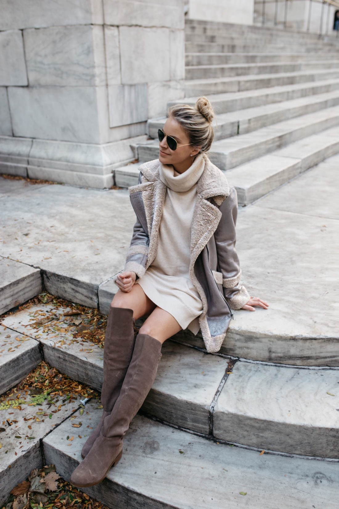 French Connection - Zelda Faux Shearling Coat