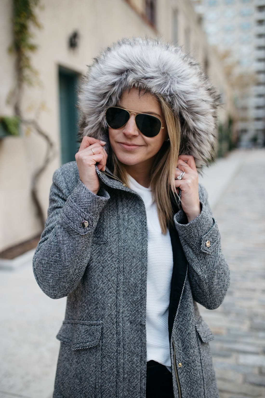 fur lined hooded jacket
