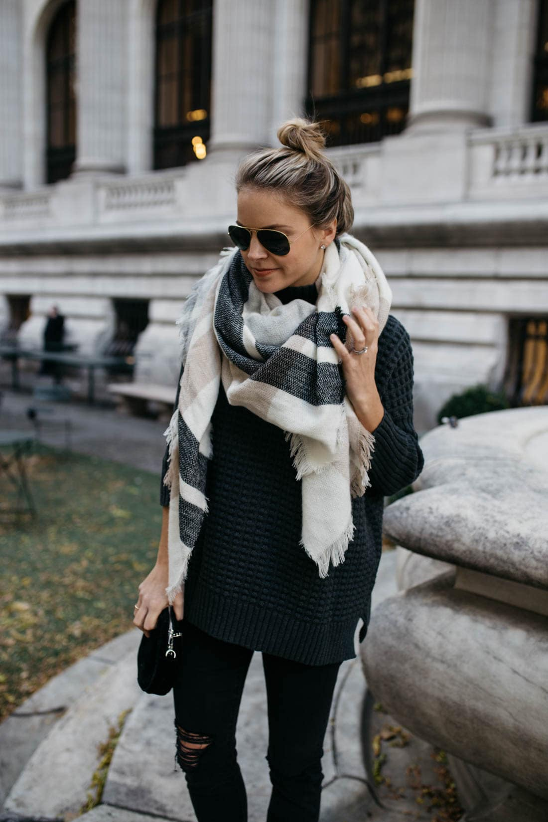 Oversize Plaid Blanket Scarf