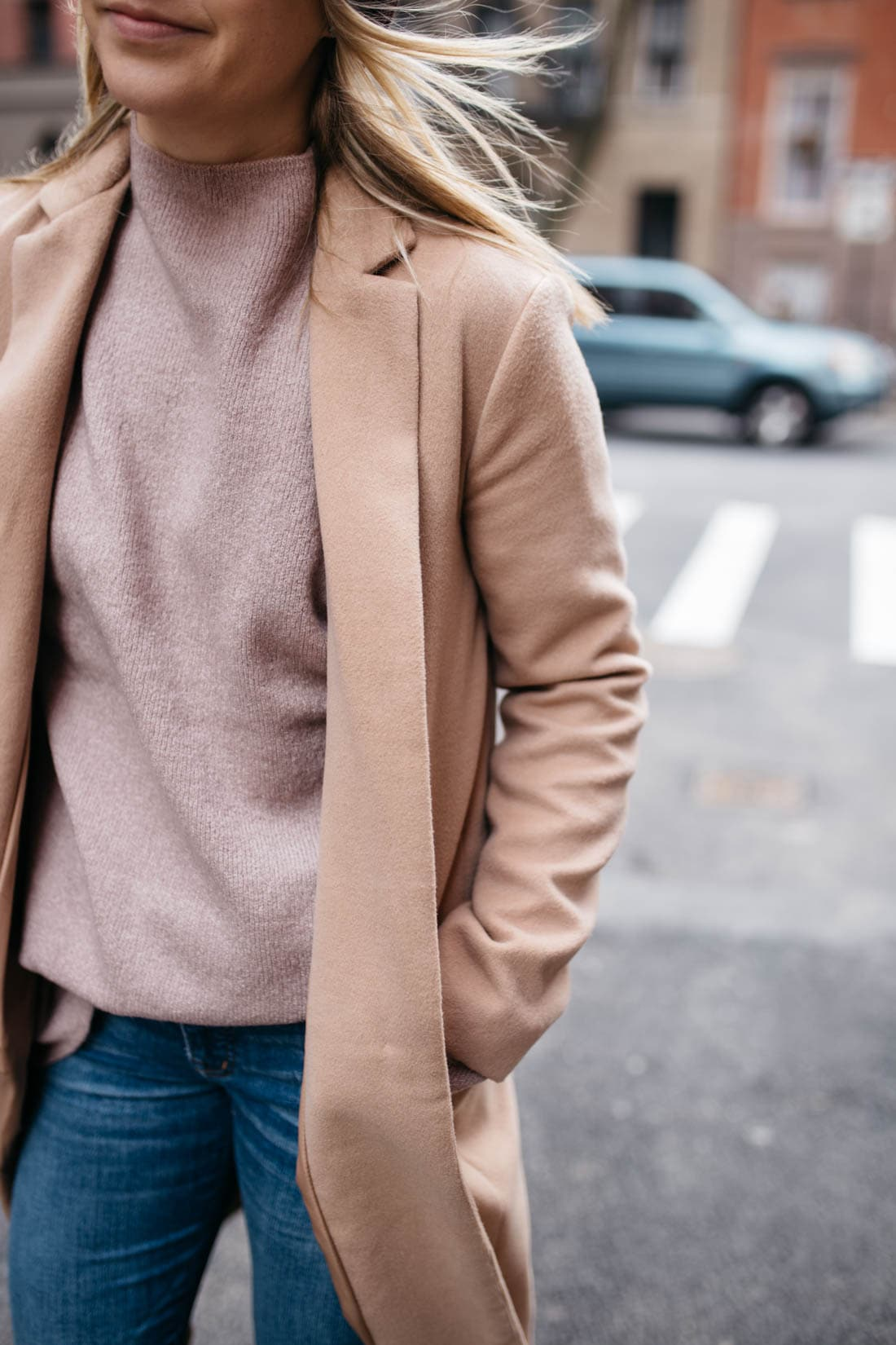 Urban Outfitters Benny Fuzzy Mock-Neck Sweater