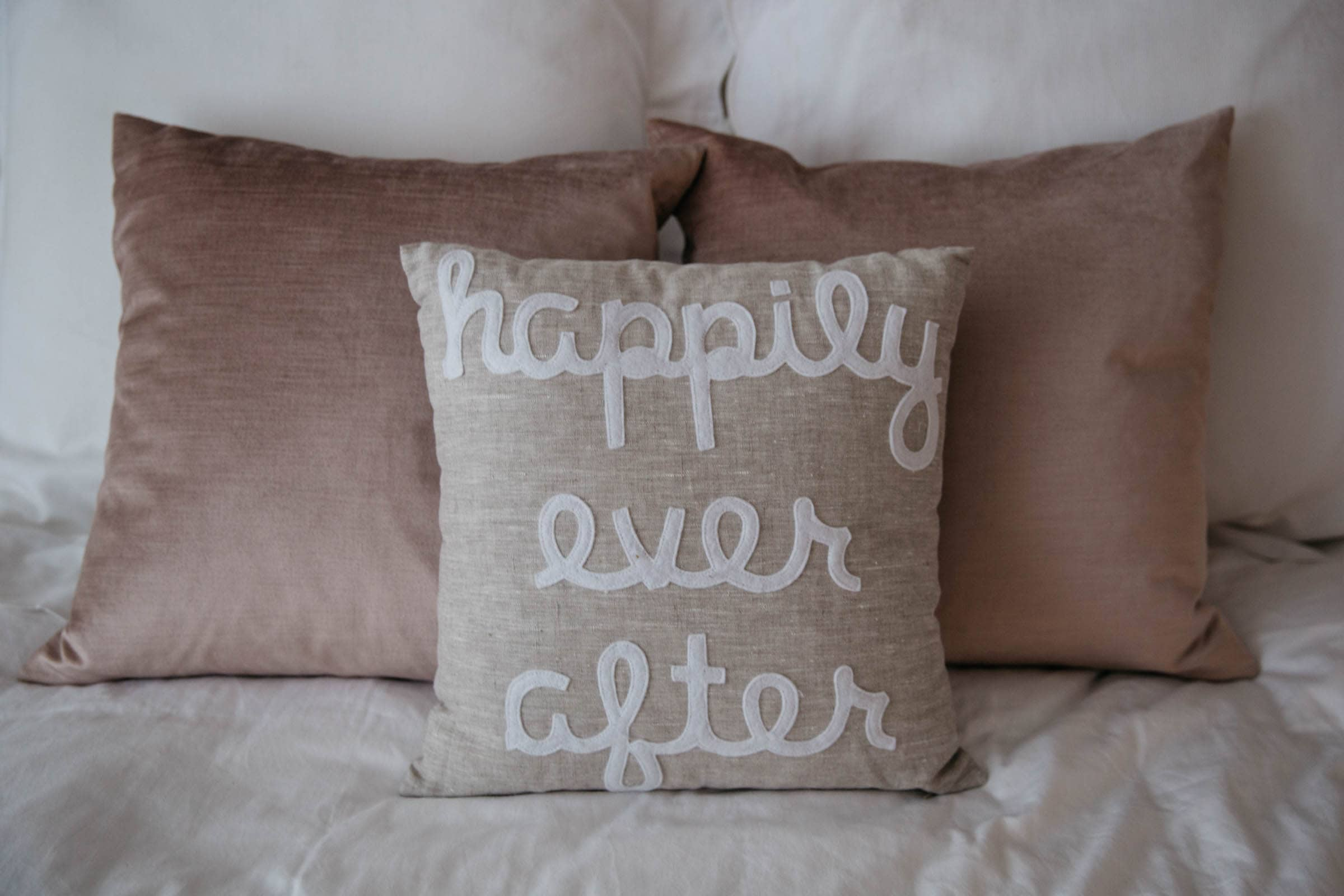 Alexandra Ferguson Linen Happily Ever After Decorative Pillow