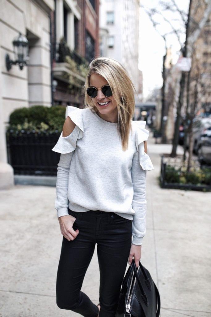 Women's Rebecca Minkoff Gracie Cold Shoulder Sweatshirt
