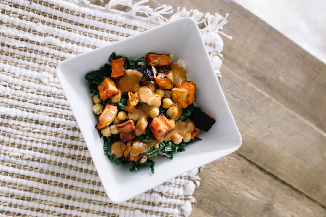 Kale and Sweet Potato Brown Rice Bowl (1 of 1)