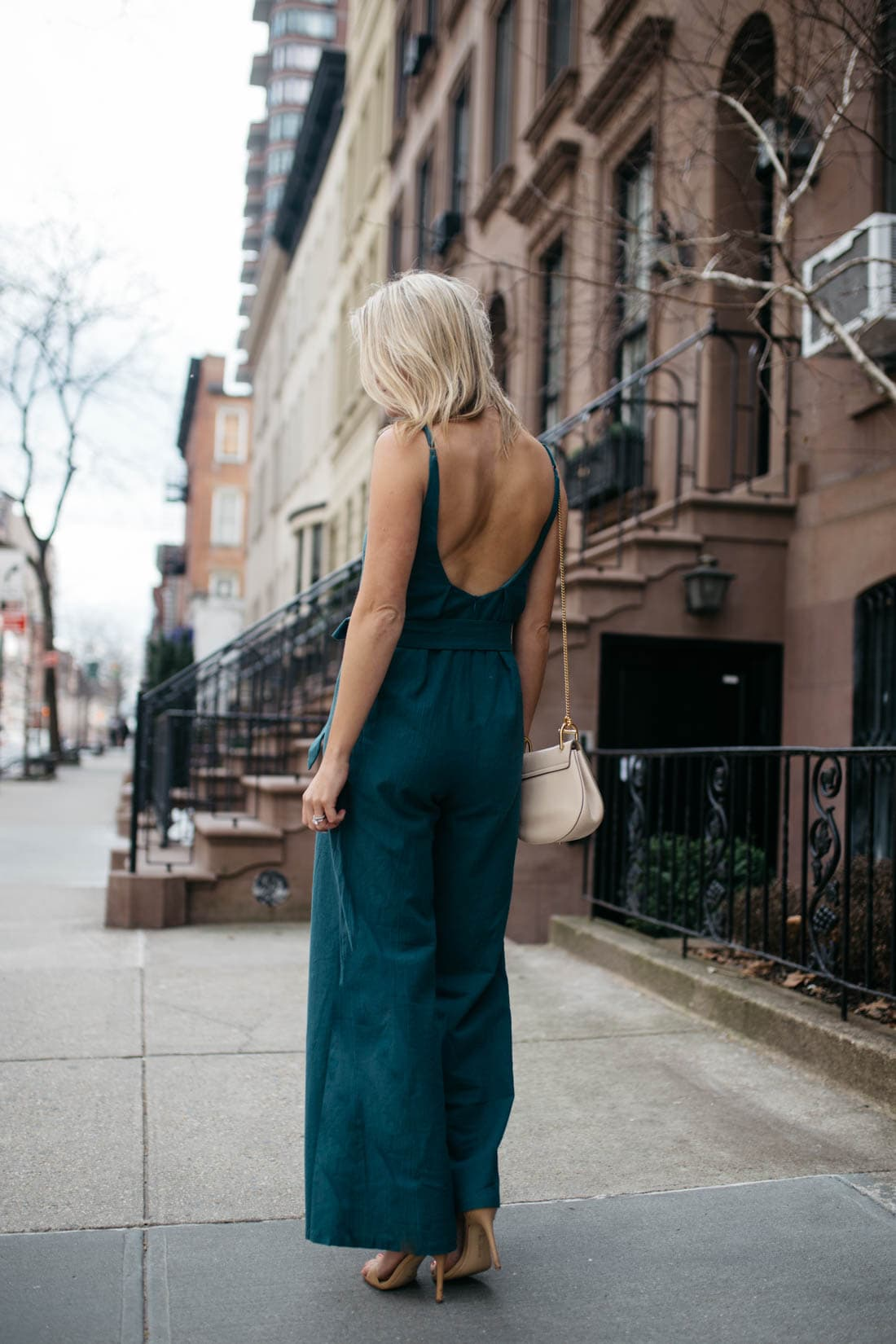 Scoop back jumpsuit