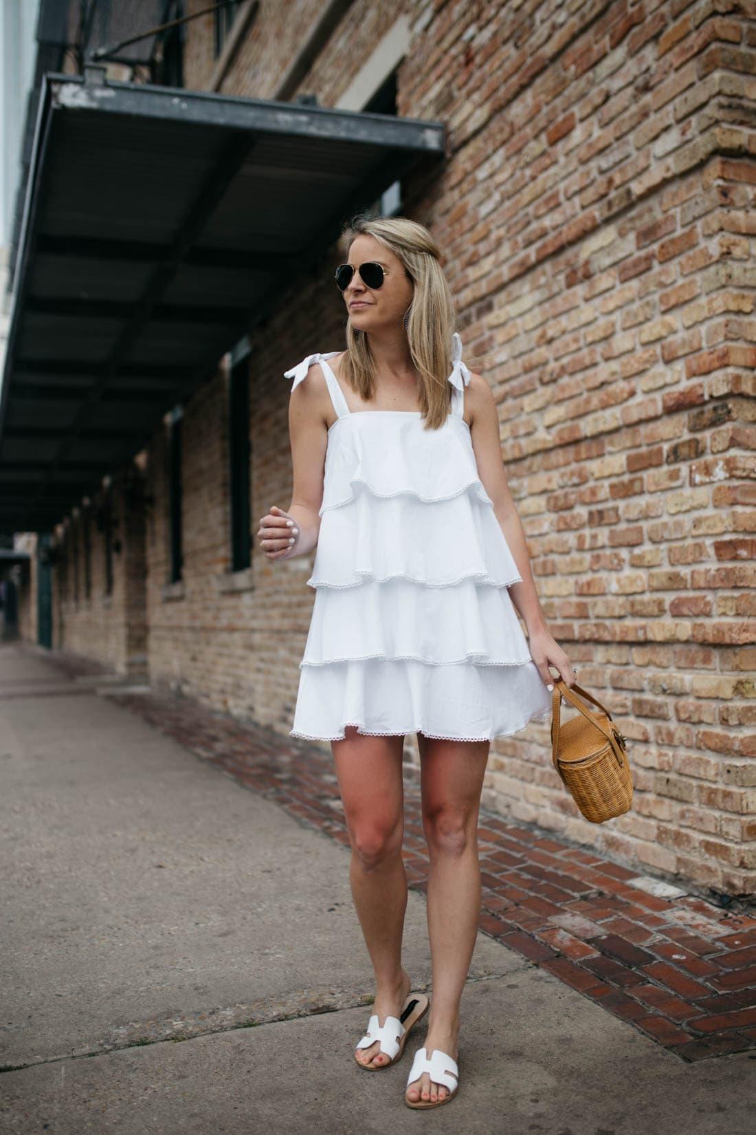 WAYF Tiered Dress
