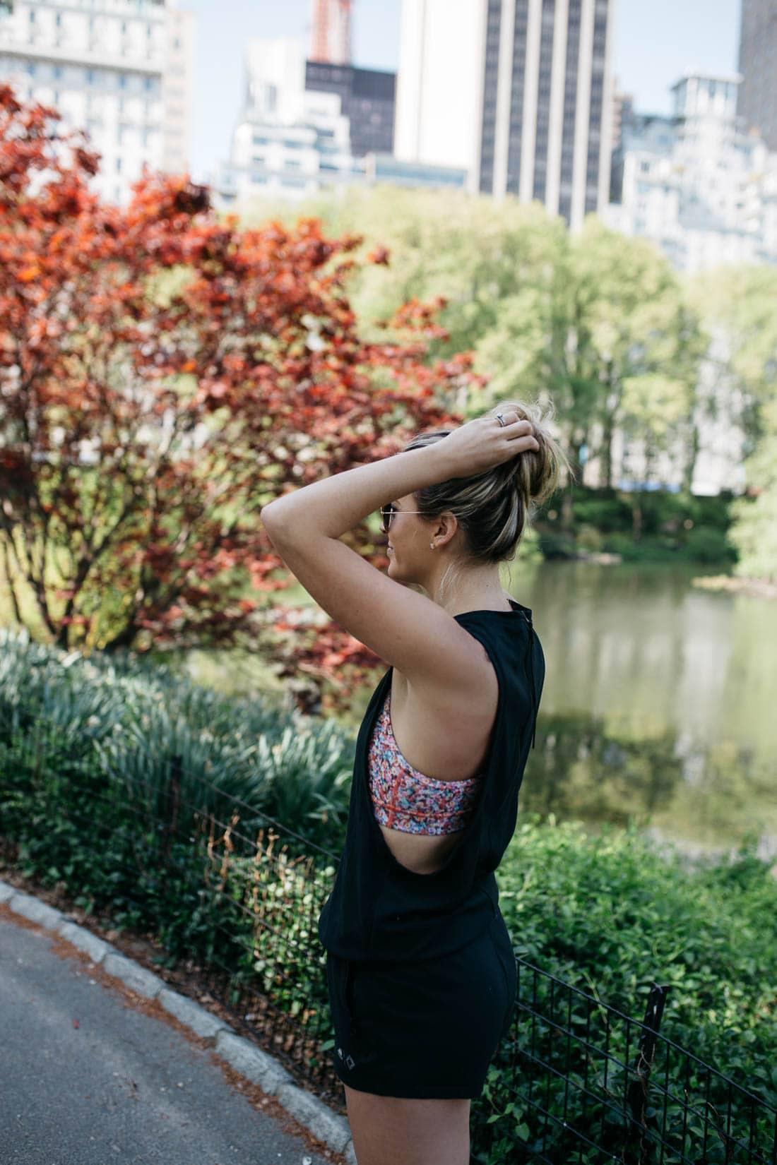 floral sports bra