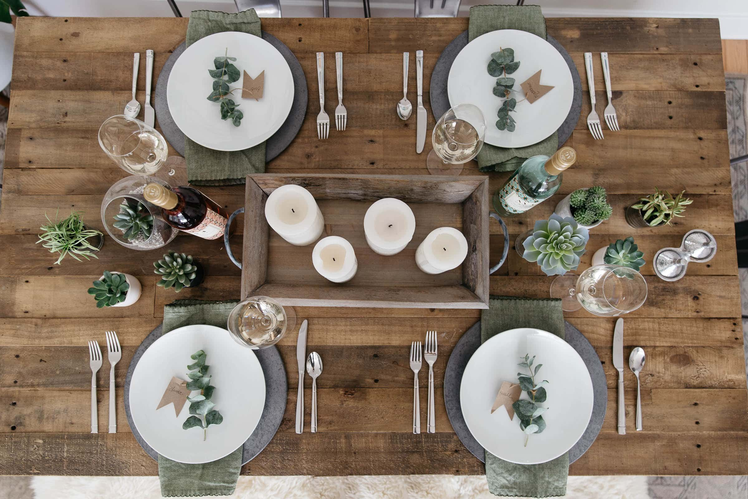 How to make a spring tablescape