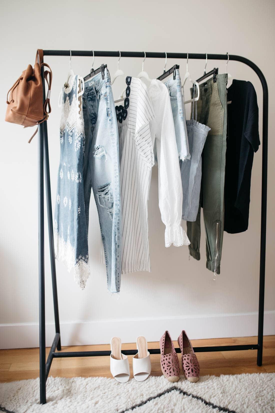 wardrobe styling rack