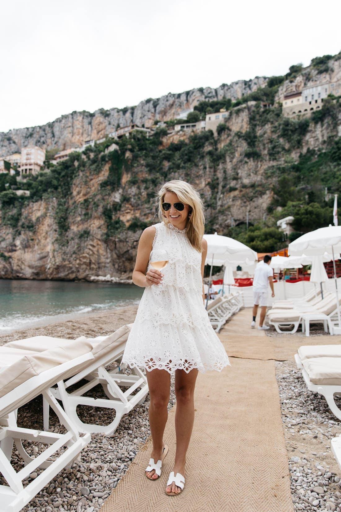 Hidden beach club in the South of France