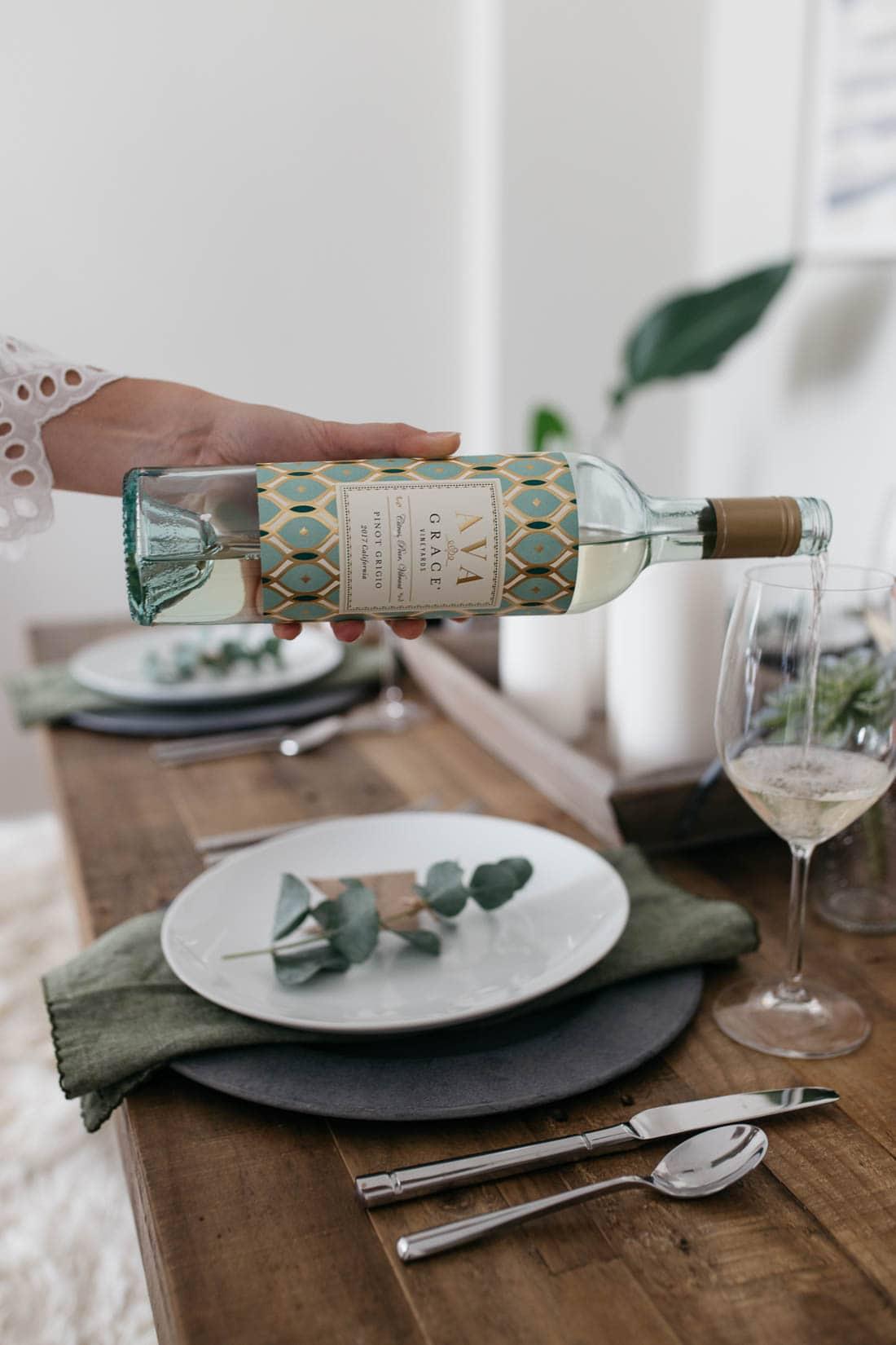 Spring menu wine pairings