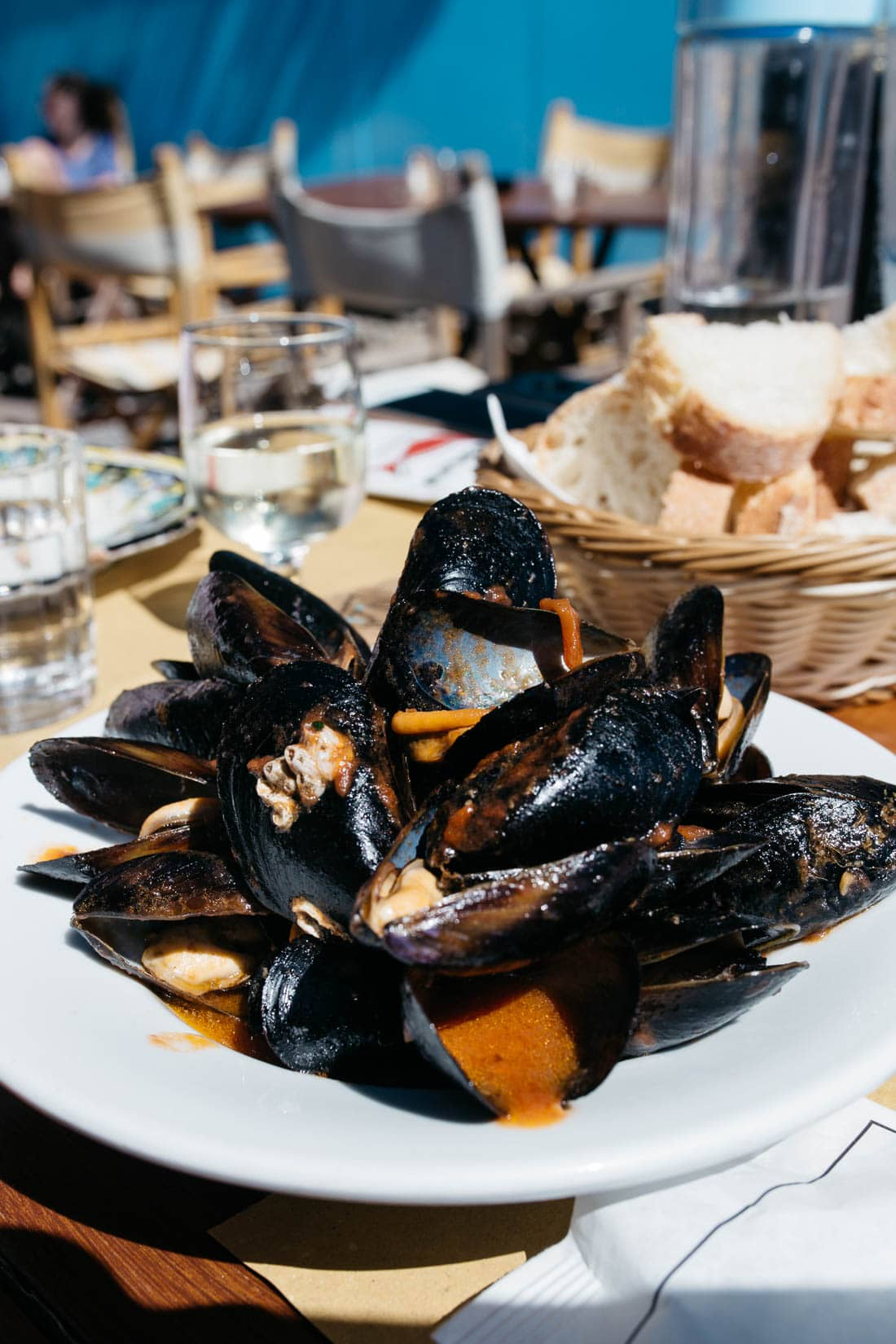 Best mussels in Positano