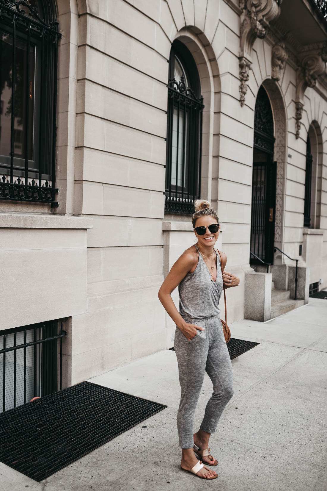 Lou & Grey Strappy Racerback Jumpsuit