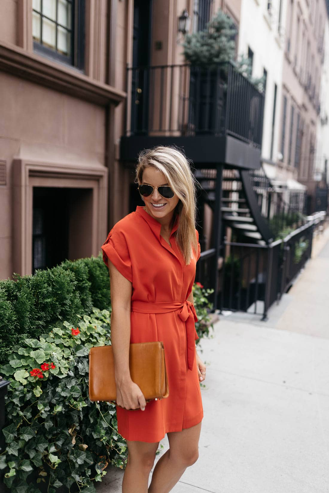 Burnt Orange Shirtdress