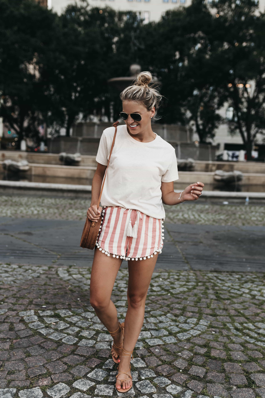pom-pom trimmed shorts