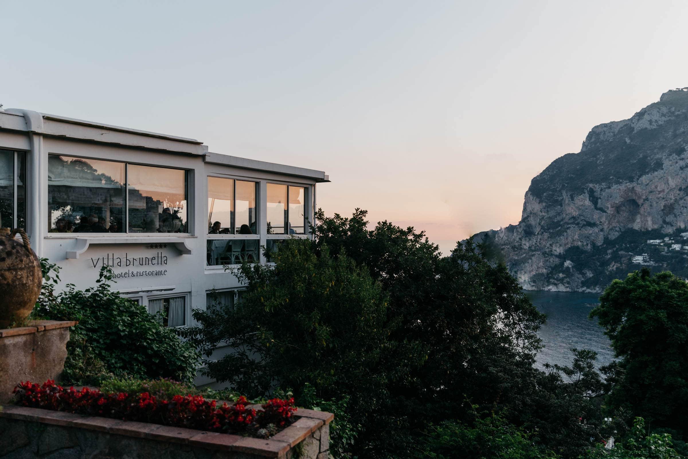 best sunset in Capri