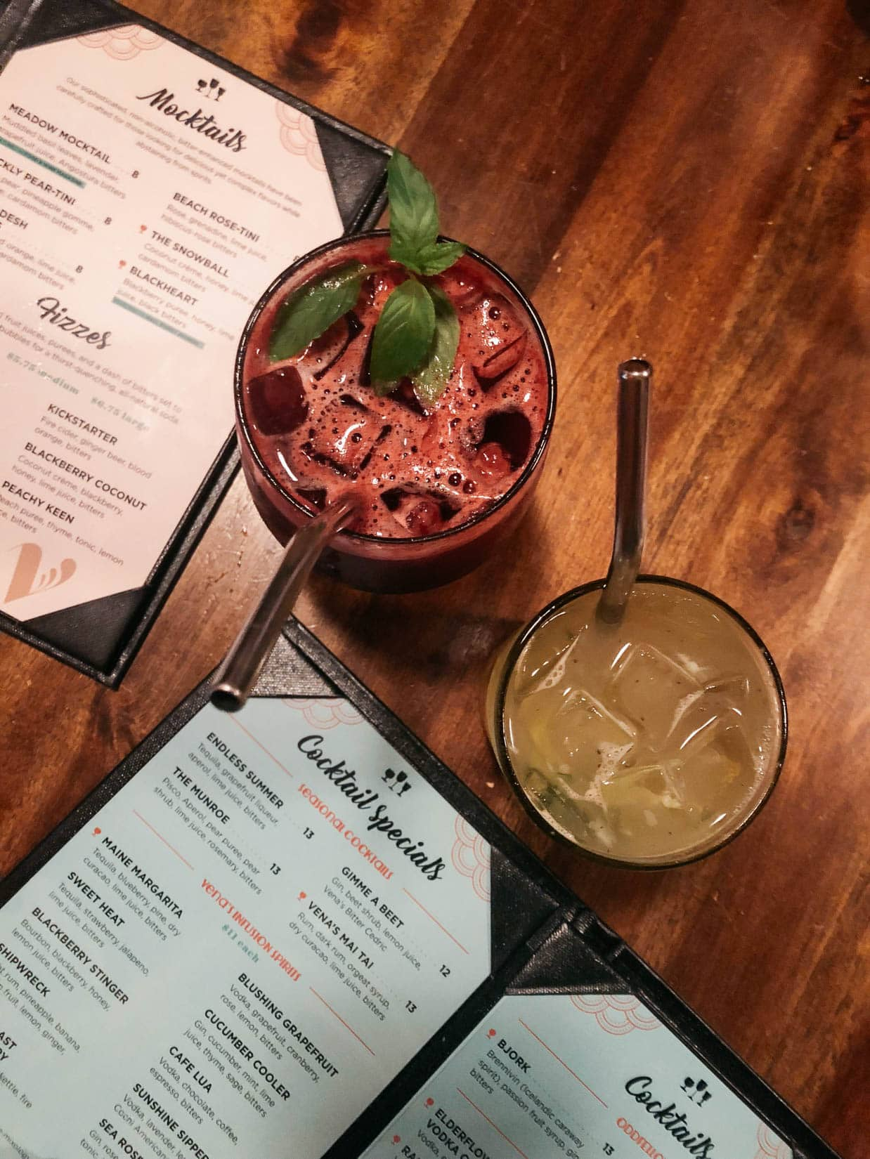 Mocktail Bar in Portland Maine