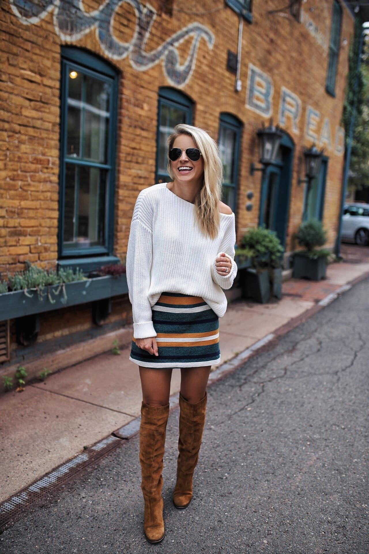 Camel Over the Knee Boots