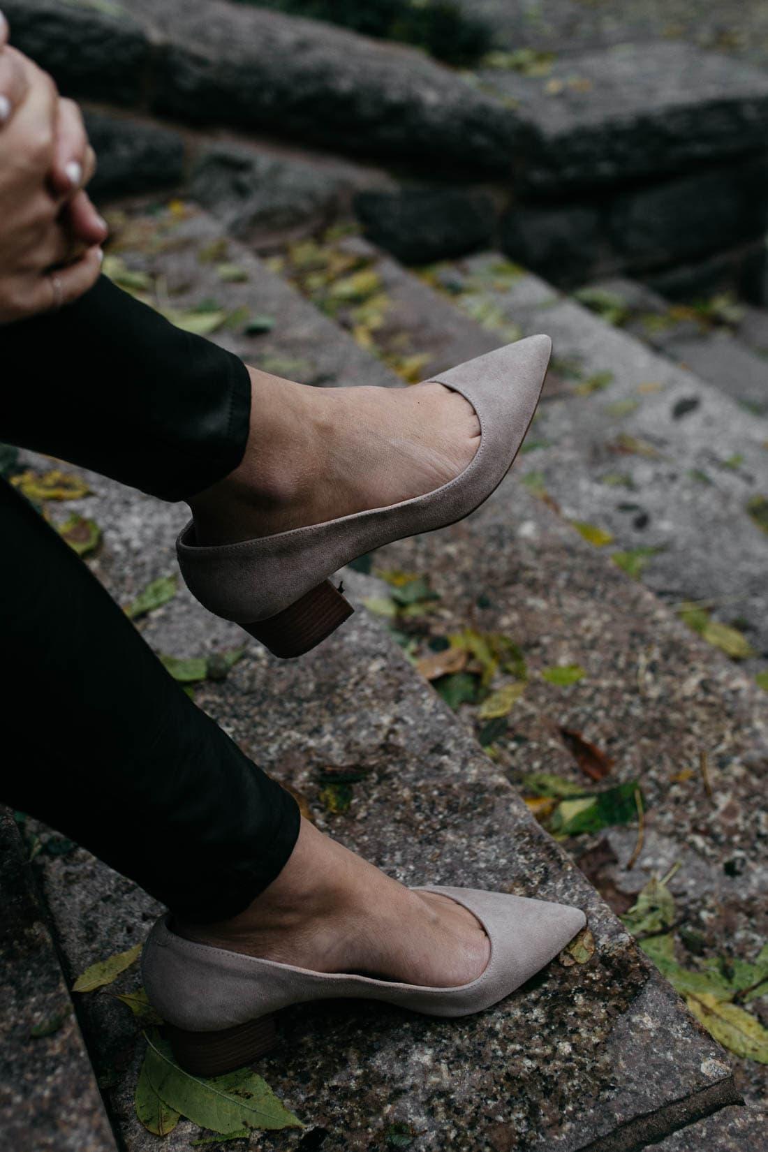 comfortable block heels