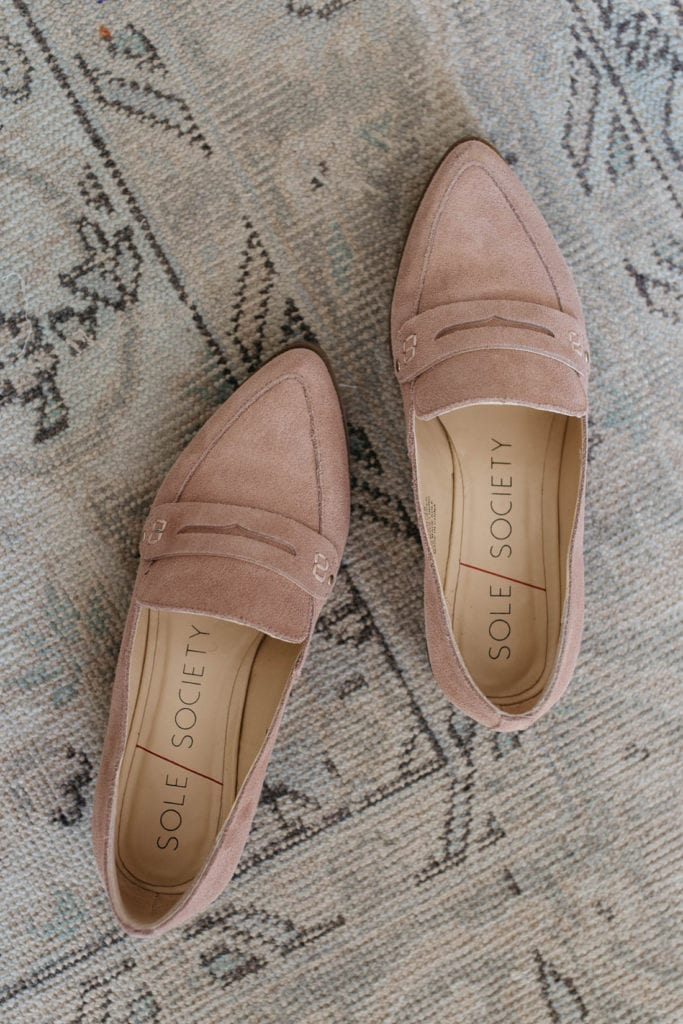 blush pink smoking slipper