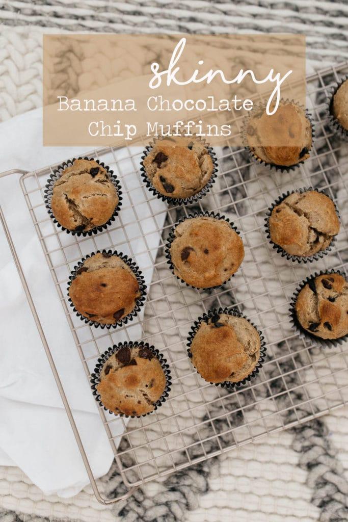 Skinny Banana chocolate chip Muffins
