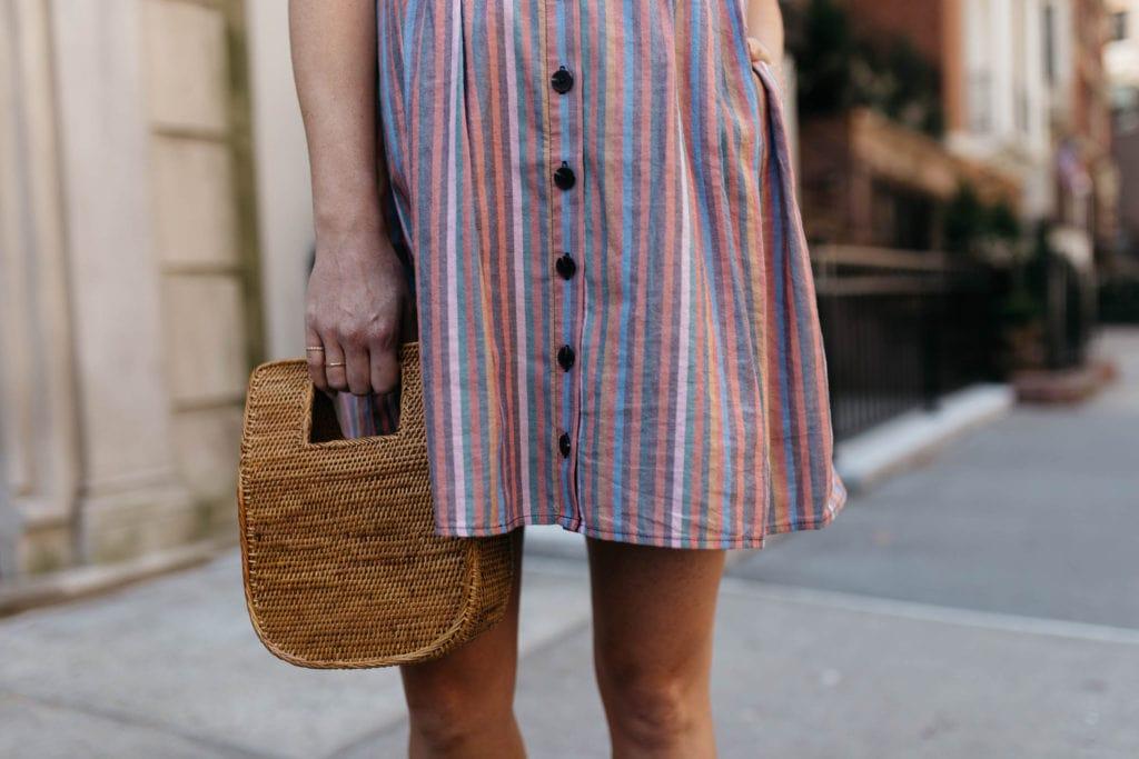 stripe rainbow tank dress