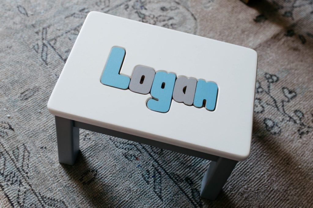 children's stool with name
