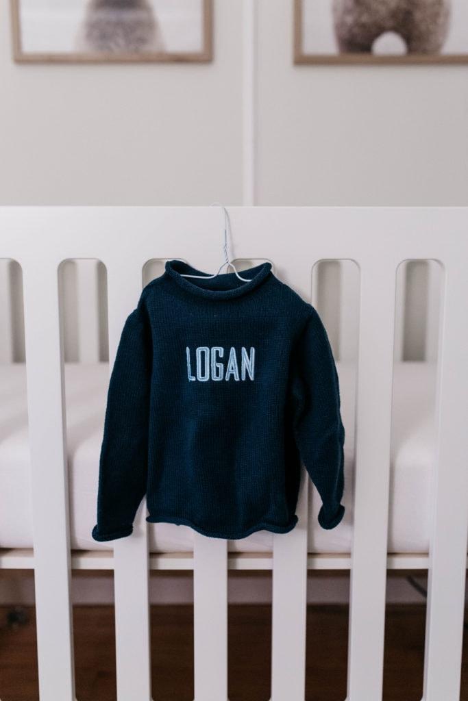 monogrammed baby sweater