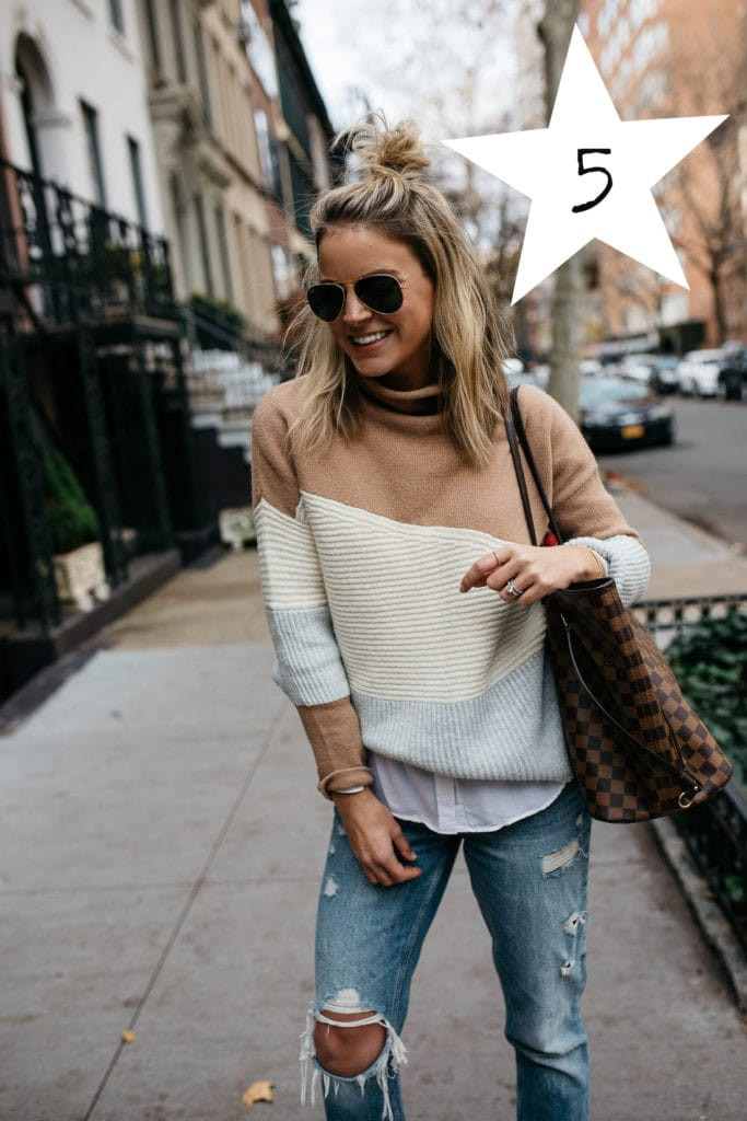 french connection coloblock sweater