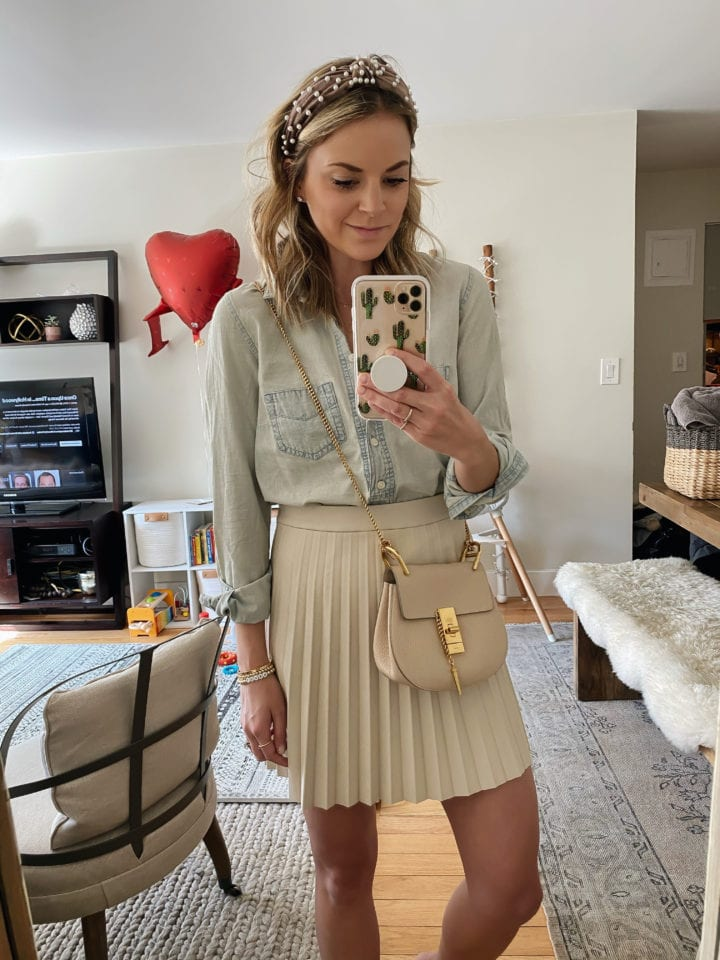 Faux Leather Miniskirt cupcakes and cashmere