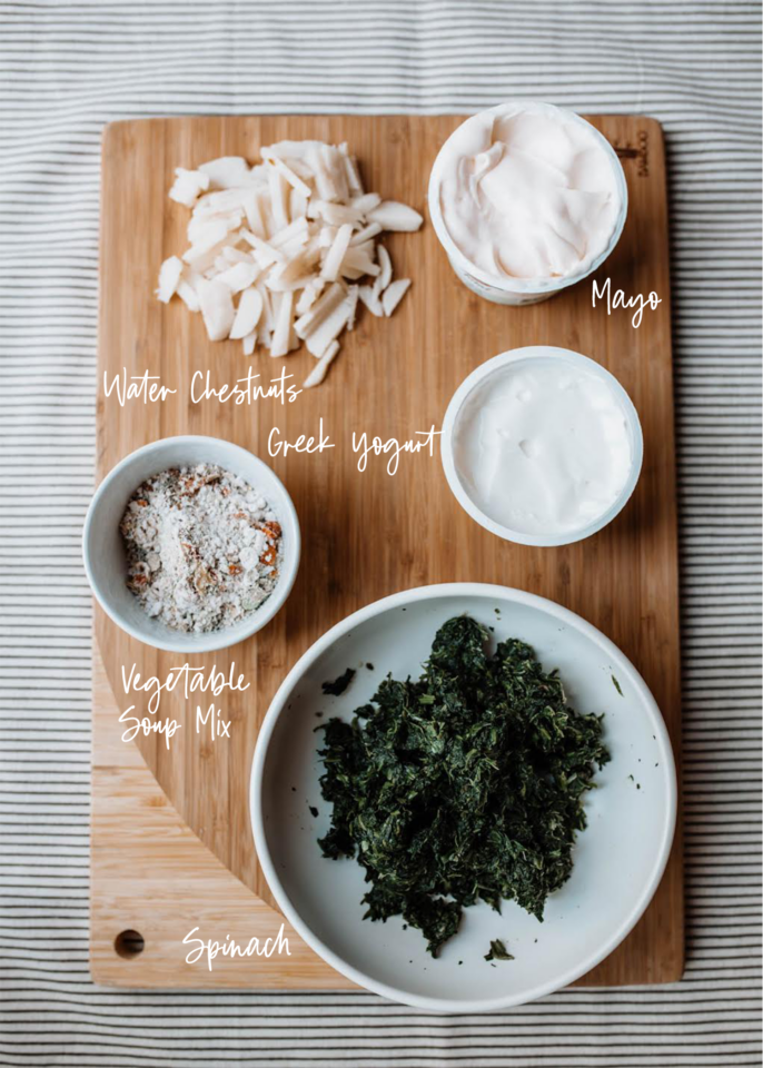 Spinach Dip Ingredients