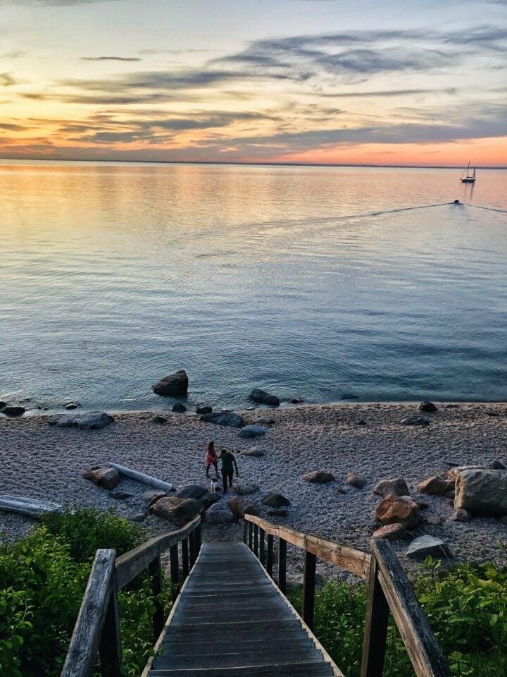 sunset 67 steps beach