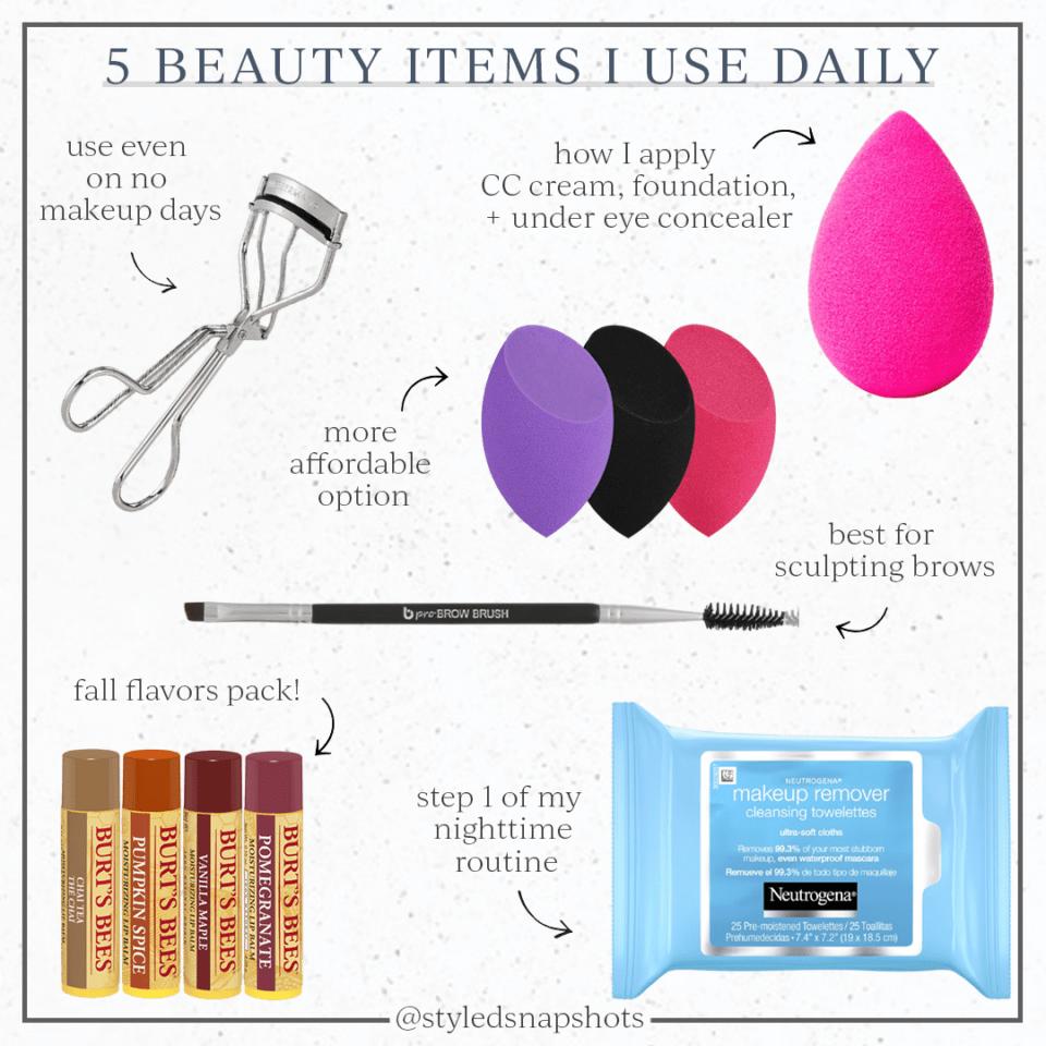 5 Beauty Items I use daily